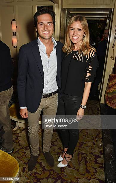 Nelson Piquet Jr and Nicki Shields attend the FIA Formula E Championship private dinner at Chiltern Firehouse on July 1 2016 in London England