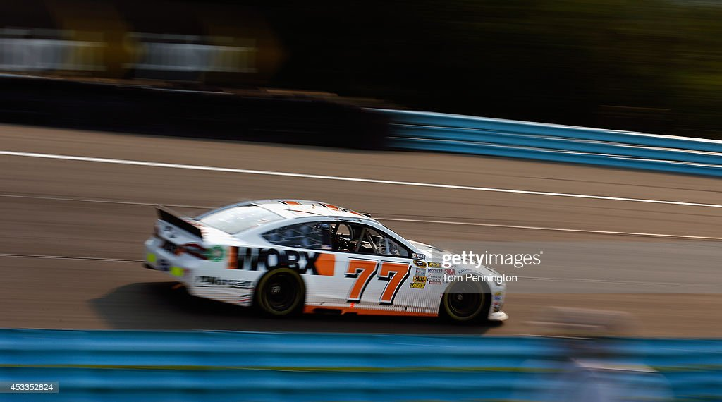 Nelson Piquet Jr., driver of the #77 WORX Ford, practices for the NASCAR Sprint Cup Series Cheez-It 355 at Watkins Glen International on August 8, 2014 in Watkins Glen, New York.