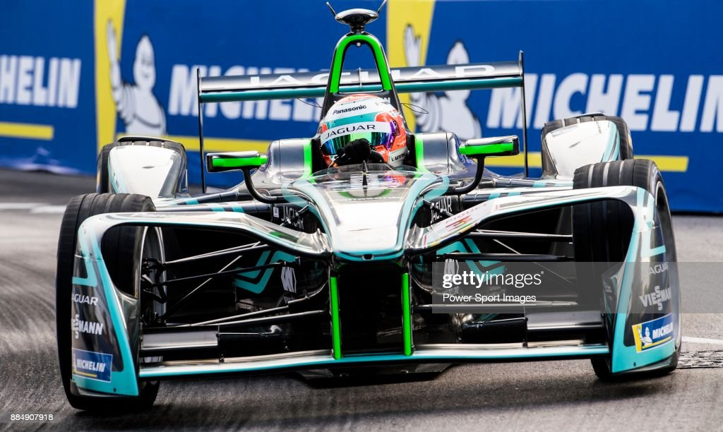 Nelson Piquet Jr of Brazil from Panasonic Jaguar Racing competes during the FIA Formula E Hong Kong E-Prix Round 2 at the Central Harbourfront Circuit on 03 December 2017 in Hong Kong, Hong Kong.