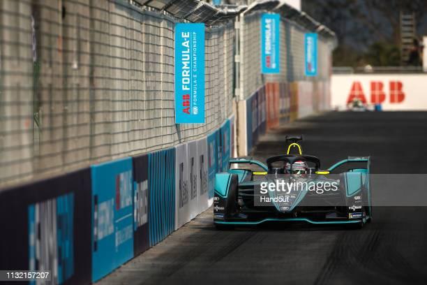Nelson Piquet Jr Panasonic Jaguar Racing Jaguar IType 3 during the 2019 Sanya EPrix as part of Formula E 2019 season on March 23 2019 in Hainan...