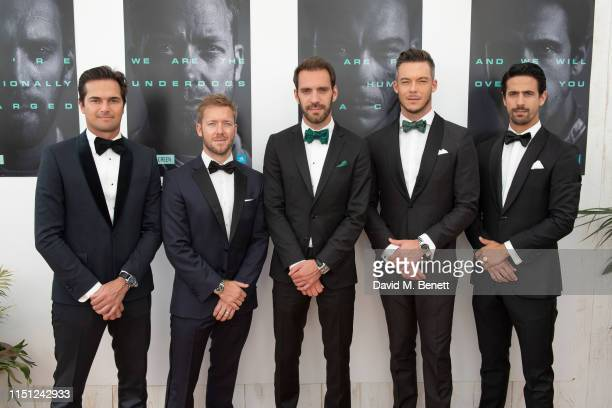 Nelson Piquet Jr., Sam Bird, Jean-Eric Vergne, André Lotterer and Lucas di Grassi attend a cocktail party hosted by Alejandro Agag ahead of the World...