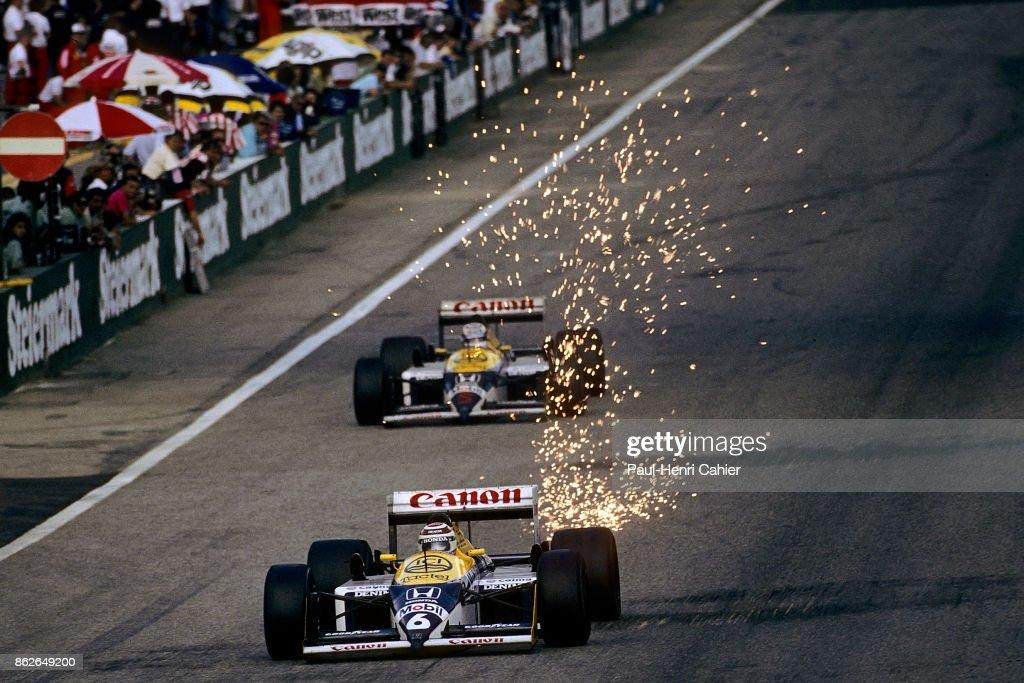 Nelson Piquet, Nigel Mansell, Grand Prix Of Austria : News Photo