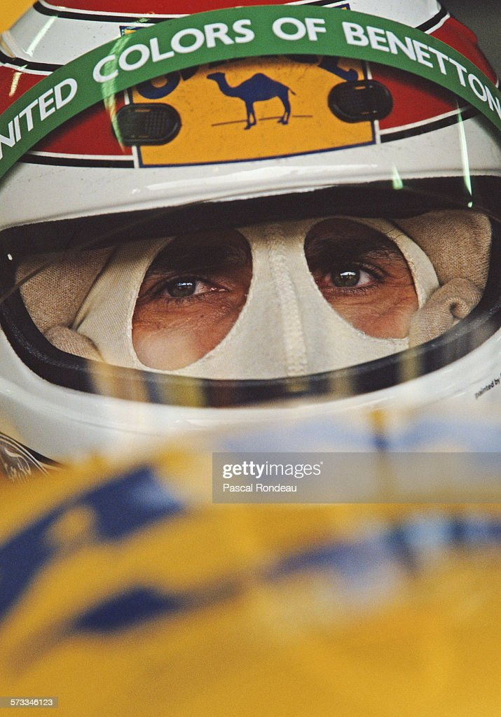 Nelson Piquet of Brazil, driver of the #20 Camel Benetton Ford Benetton B191 Ford V8 during practice for the San Marino Grand Prix on 27th April 1991 at the Autodromo Enzo e Dino Ferrari in Imola, San Marino. (Photo by Pascal Rondeau/Getty Images