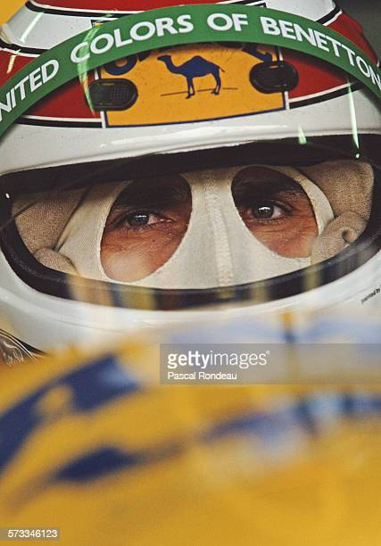 Nelson Piquet of Brazil driver of the Camel Benetton Ford Benetton B191 Ford V8 during practice for the San Marino Grand Prix on 27th April 1991 at...