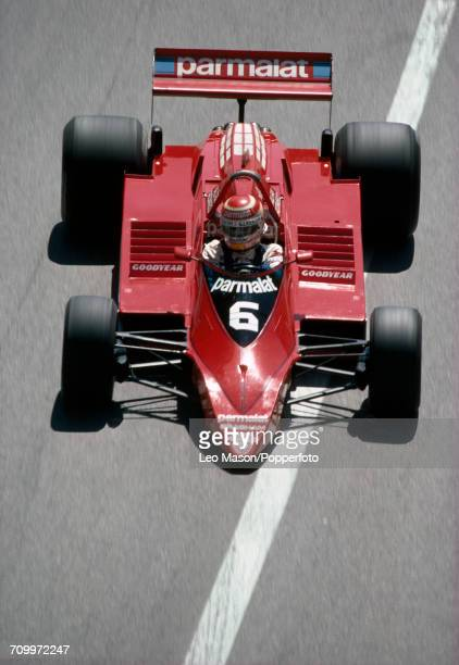 Nelson Piquet of Brazil in action driving a Brabham BT48 with an Alfa Romeo V12 engine for the Parmalat Racing Team during the Monaco Grand Prix on...