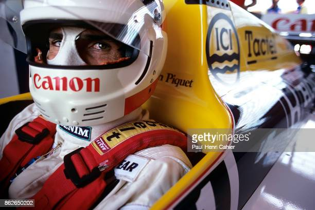Nelson Piquet WilliamsHonda FW11 Grand Prix of Brazil Jacarepagua 23 March 1986 Nelson Piquet in his first race for the Williams team in the 1986...