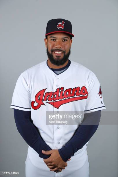 Nelson Rodriguez of the Cleveland Indians poses during Photo Day on Wednesday February 21 2018 at Goodyear Ballpark in Goodyear Arizona