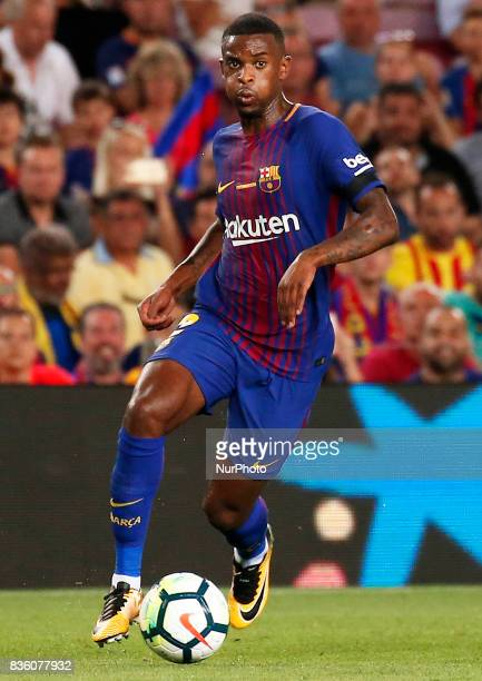 Nelson Semedo during La Liga match between FC Barcelona v Real Betis Balompie in Barcelona on August 20 2017 hoto Joan Valls/Urbanandsport/Nurphoto
