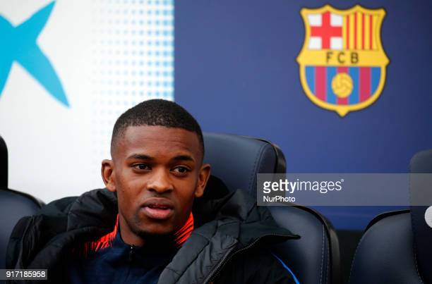 Nelson Semedo during the match between FC Barcelona and Getafe CF for the round 23 of the Liga Santander played at the Camp Nou Stadium on 11th...