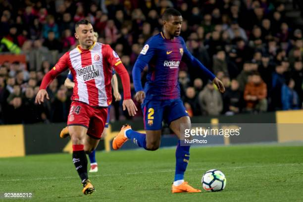 Nelson Semedo during the spanish football league match between FC Barcelona and Girona FC at the Camp Nou Stadium in Barcelona Catalonia Spain on...