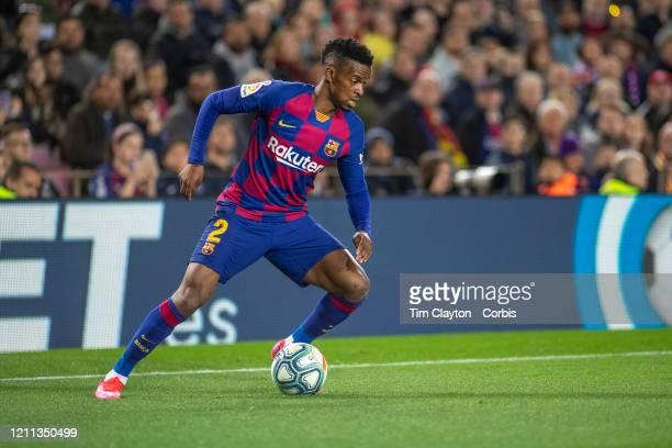 Nelson Semedo of Barcelona in action during the Barcelona V Real Sociedad La Liga regular season match at Estadio Camp Nou on March 7th 2020 in...
