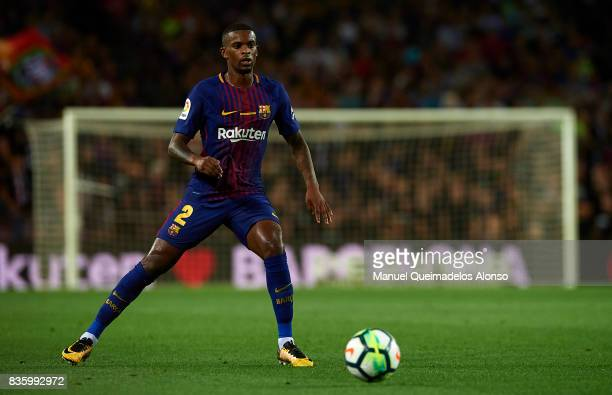 Nelson Semedo of Barcelona in action during the La Liga match between Barcelona and Real Betis at Camp Nou on August 20 2017 in Barcelona Spain