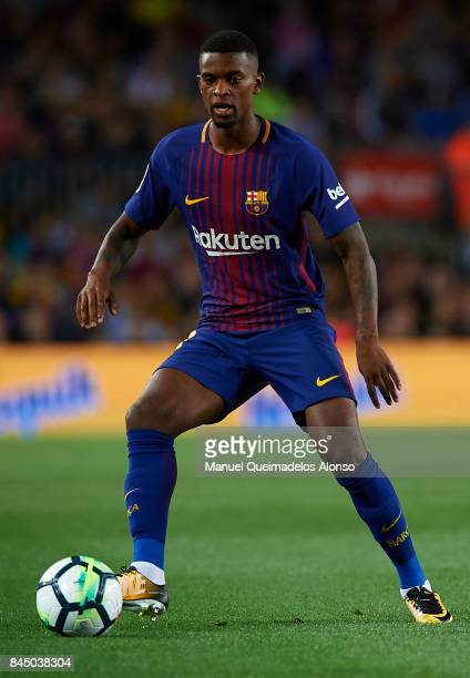 Nelson Semedo of Barcelona in action during the La Liga match between Barcelona and Espanyol at Camp Nou on September 9 2017 in Barcelona Spain