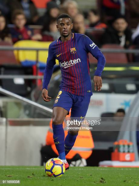 Nelson Semedo of FC Barcelona during the La Liga Santander match between FC Barcelona v Deportivo Alaves at the Camp Nou on January 28 2018 in...