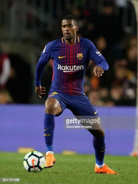 Nelson Semedo of FC Barcelona during the La Liga Santander match between FC Barcelona v Girona at the Camp Nou on February 24 2018 in Barcelona Spain
