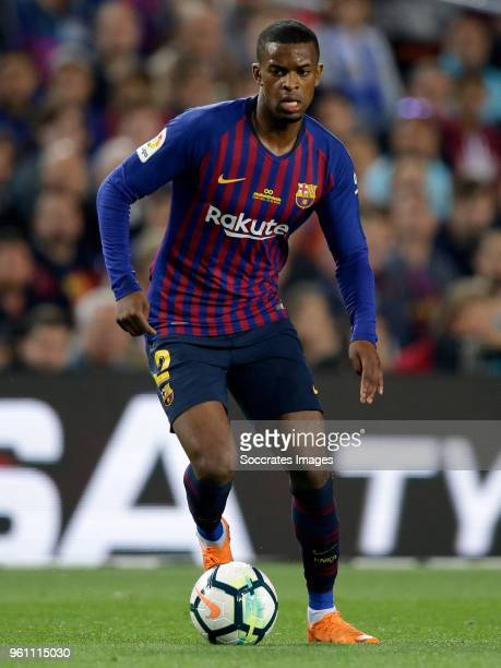 Nelson Semedo of FC Barcelona during the La Liga Santander match between FC Barcelona v Real Sociedad at the Camp Nou on May 20 2018 in Barcelona...
