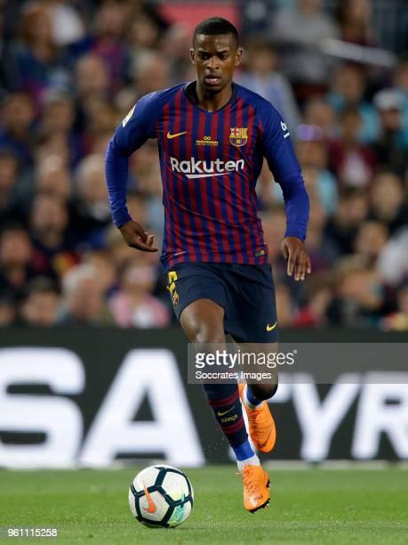 Nelson Semedo of FC Barcelona during the La Liga Santander match between FC Barcelona v Real Sociedad at the Camp Nou on May 20 2018 in Barcelona...