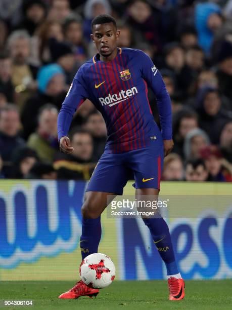 Nelson Semedo of FC Barcelona during the Spanish Copa del Rey match between FC Barcelona v Celta de Vigo at the Camp Nou on January 11 2018 in...