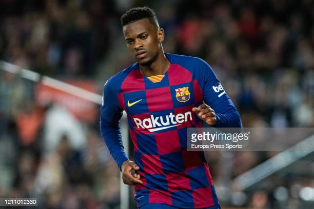 Nelson Semedo of FC Barcelona during the Spanish League La Liga football match played between FC Barcelona and Real Sociedad at Camp Nou stadium on...