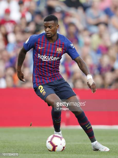 Nelson Semedo of FC Barcelona during the Trofeu Joan Gamper match between FC Barcelona and Boca Juniors at the Camp Nou stadium on August 15 2018 in...