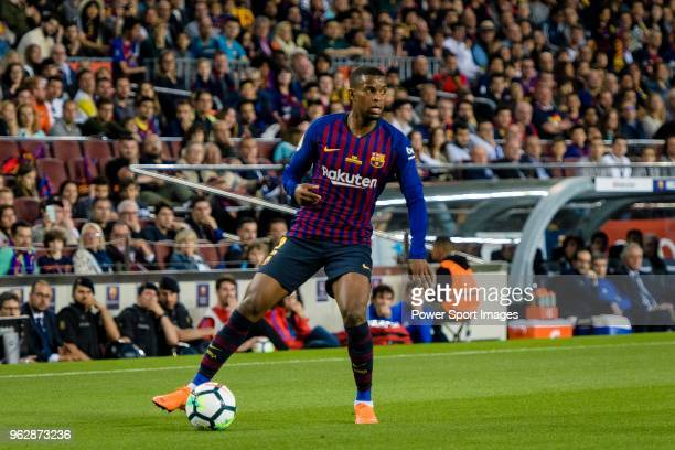 Nelson Semedo of FC Barcelona in action during the La Liga match between Barcelona and Real Sociedad at Camp Nou on May 20 2018 in Barcelona