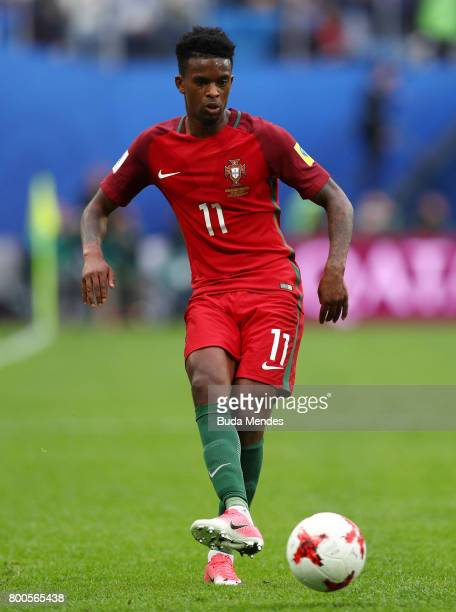 Nelson Semedo of Portugal in action during the FIFA Confederations Cup Russia 2017 Group A match between New Zealand and Portugal at Saint Petersburg...