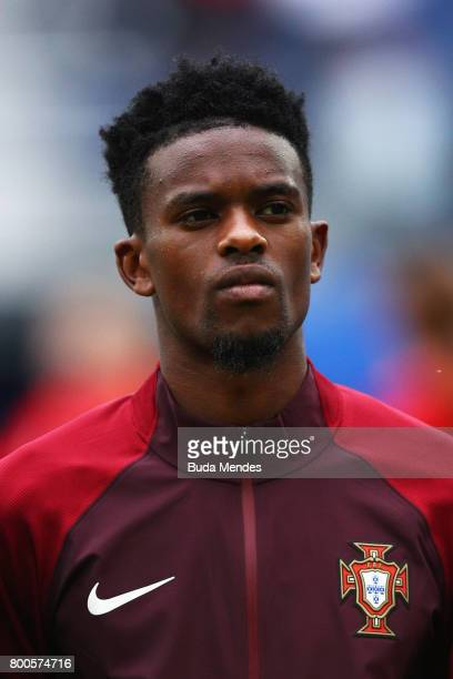 Nelson Semedo of Portugal lines up prior to the FIFA Confederations Cup Russia 2017 Group A match between New Zealand and Portugal at Saint...
