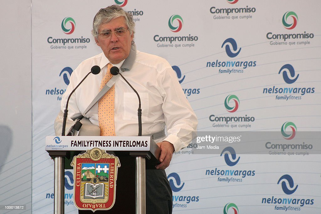 Nelson Vargas speaks during the Reopening the sports center Interlomas Nelson Vargas Family Fitness, at Family Fitness Interlomas on Mayo 19, 2010 in Mexico City, Mexico.