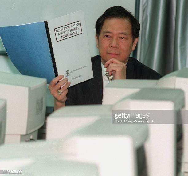 Nelson Wong of Star Paging at his Nathan Road office Pix by Wan Kamyan 29 Jun 95