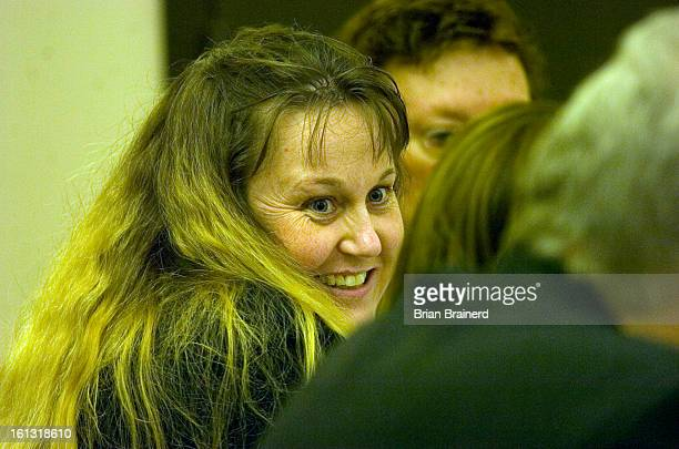 nelson26_bb_4 Shawna Nelson who is on trial for the murder of Heather Garraus in a relaxed mood with her defense team at her trial for the murder of...