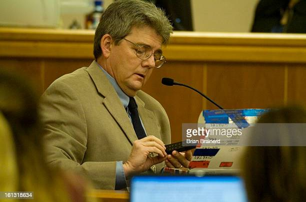 nelson27_bb_5 CBI investigator Alan Hammond identifies the ammo clip he analyzed with the weapon prosecutors say Shawna Nelson used to murder Heather...