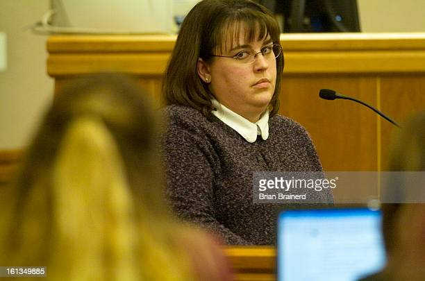 nelson27_bb_7 Sonja Walker looks towards Shawna Nelson as she testifies during Nelson's trial for the murder of Heather Garraus Wednesday afternoon...