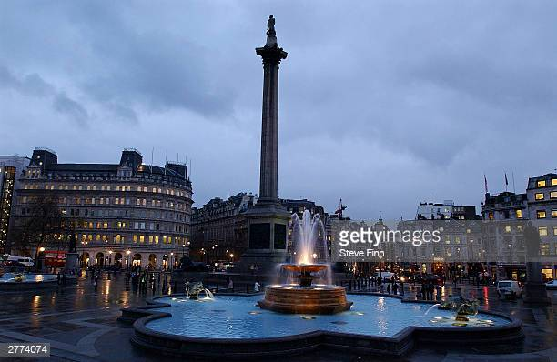 Nelsons Column at Trafalga square is seen on December 1 2003 in London A new campaign being launched plans to get HIV drugs to three million...