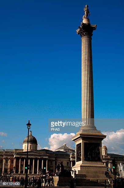 Nelson's Column Designed by William Railton was built to commemorate Admiral Horatio Nelson Corinthian order and Dartmor granite It is crowned by the...