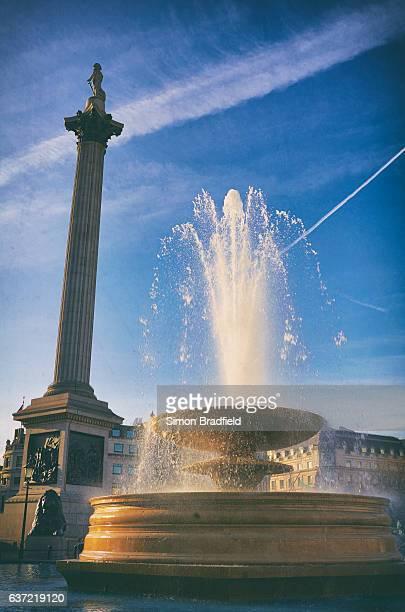 Nelson's Column In London's Trafalgar Square