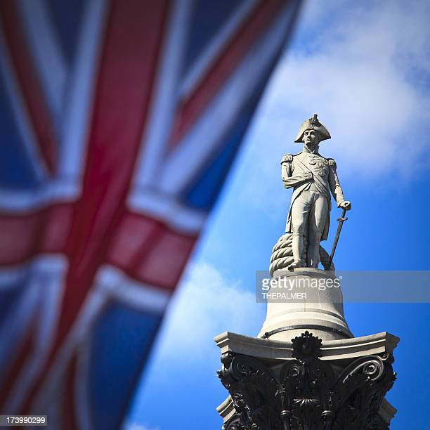 nelson's column in trafalgar square - nelson's column stock photos and pictures