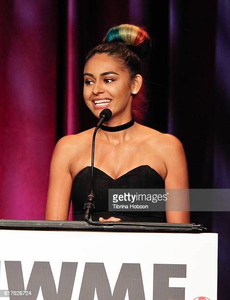 Nelufar Hedayat attends the International Women's Media Foundation 27th annual Courage In Journalism Awards at the Beverly Wilshire Four Seasons...