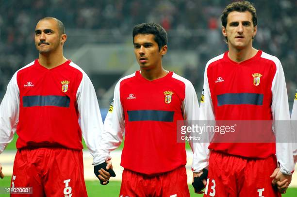 Nem Andrade and Carlos Fernandes during Portuguese BWin League Braga vs Aves February 4 2007 at Braga in Braga Portugal