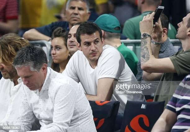 Nemanja Bjelica of Minnesota Timberwolves looks on during the Turkish Airlines Euroleague Final Four Belgrade 2018 Semifinal match between Fenerbahce...