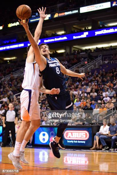 Nemanja Bjelica of the Minnesota Timberwolves goes for a lay up against the Phoenix Suns on November 11 2017 at Talking Stick Resort Arena in Phoenix...