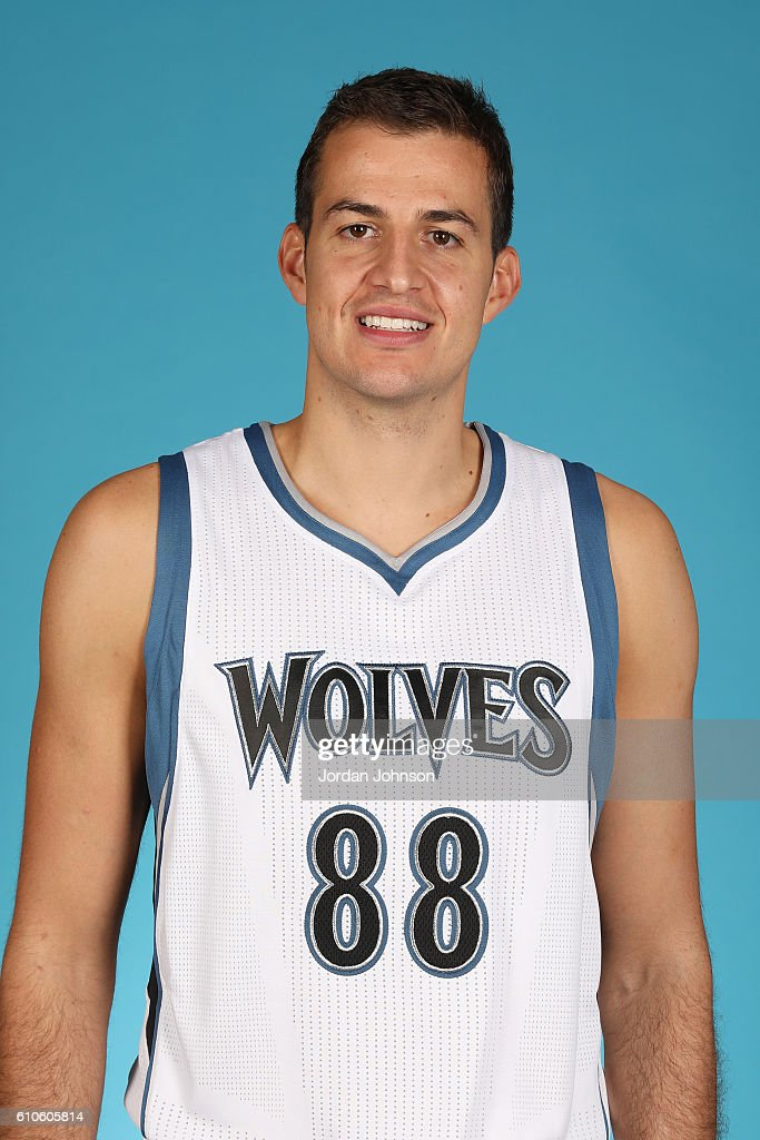 Nemanja Bjelica #88 of the Minnesota Timberwolves poses for a head shot during the 2016-2017 Minnesota Timberwolves Media Day on September 26, 2016 at Target Center in Minneapolis, Minnesota.