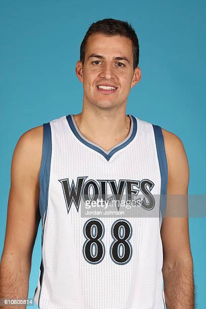 Nemanja Bjelica of the Minnesota Timberwolves poses for a head shot during the 20162017 Minnesota Timberwolves Media Day on September 26 2016 at...