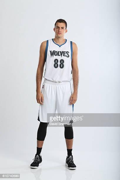 Nemanja Bjelica of the Minnesota Timberwolves poses for a portrait during the 2016 2017 Minnesota Timberwolves Media Day on September 26 2016 at...