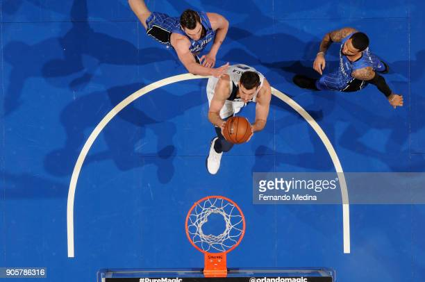 Nemanja Bjelica of the Minnesota Timberwolves shoots the ball against the Orlando Magic on January 16 2018 at Amway Center in Orlando Florida NOTE TO...