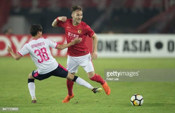 Nemanja Gudelj of Guangzhou Evergrande Taobao in action during the 2018 AFC Champions League Group G match between Gunagzhou Evergrande and Cerezo...