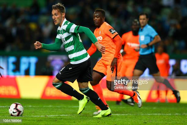 Nemanja Gudelj of Sporting CP during the Liga NOS round 8 match between Sporting CP and Boavista FC at Estadio Jose Alvalade on October 28 2018 in...