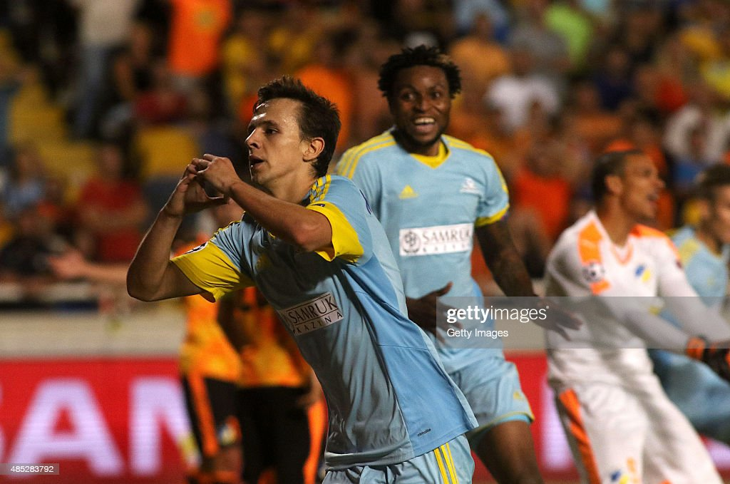 Apoel Nicosia v FC Astana - UEFA Champions League: Qualifying Round Play Off Second Leg : News Photo