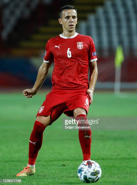 Nemanja Maksimovic of Serbia in action during the UEFA Nations League group stage match between Serbia and Turkey at Rajko Mitic Stadium on September...