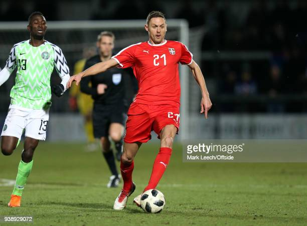 Nemanja Mati during the International Friendly match between Nigeria and Serbia at The Hive on March 27 2018 in Barnet England