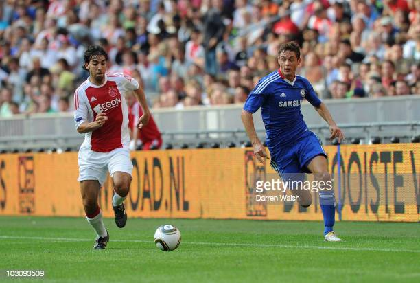 Nemanja Matic of Chelsea during a Pre season friendly match between Ajax and Chelsea at Amsterdam Arena on July 23 2010 in Amsterdam Netherlands